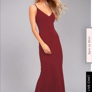 Lulus spaghetti strap maxi dress